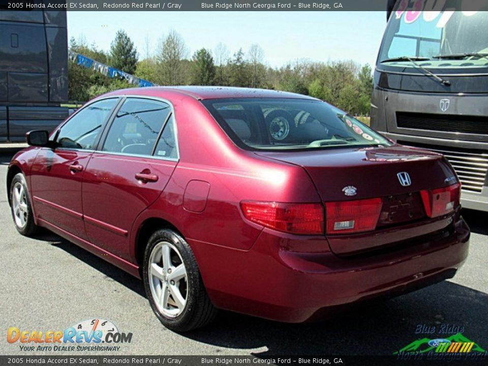 2005 Honda Accord EX Sedan Redondo Red Pearl / Gray Photo #3