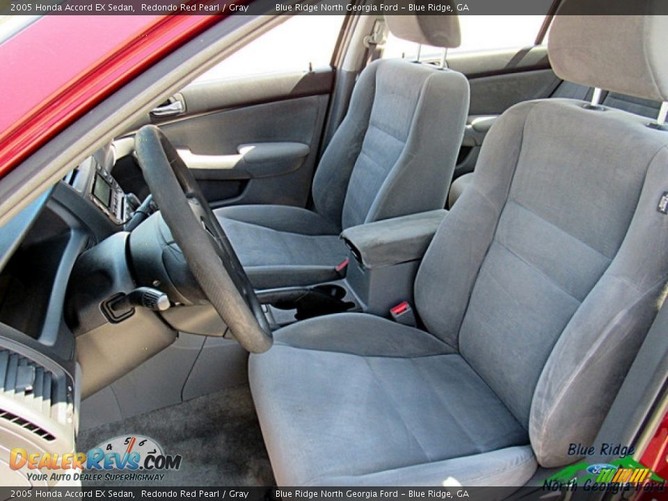 2005 Honda Accord EX Sedan Redondo Red Pearl / Gray Photo #10
