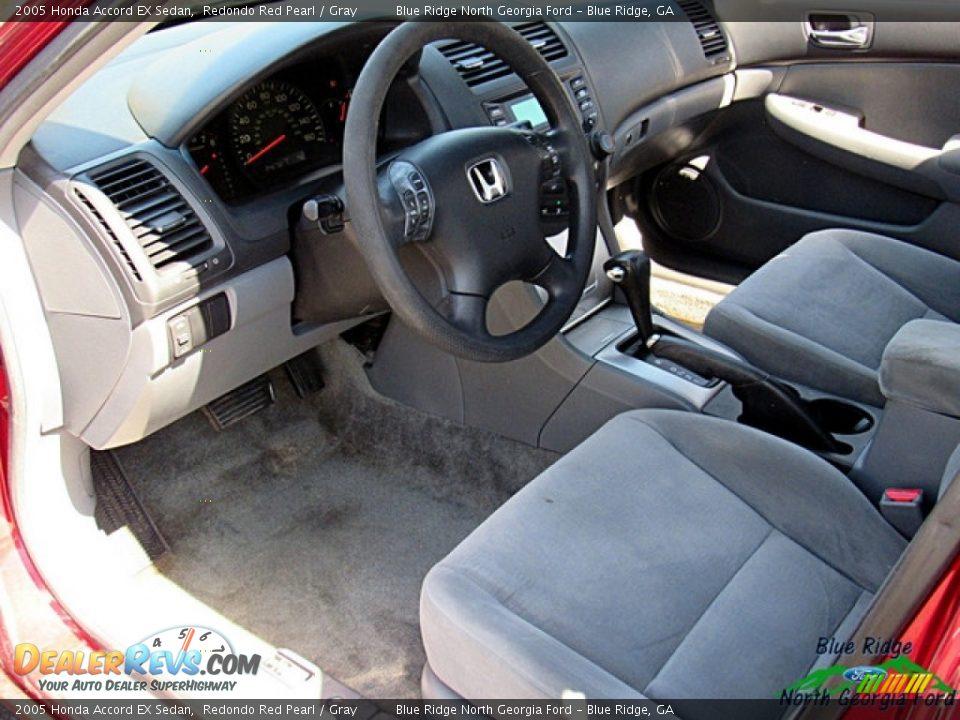 2005 Honda Accord EX Sedan Redondo Red Pearl / Gray Photo #21