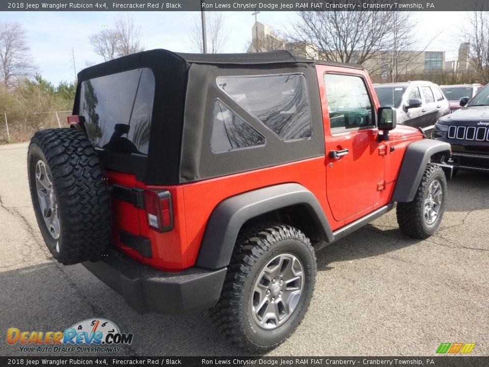 2018 Jeep Wrangler Rubicon 4x4 Firecracker Red / Black Photo #5