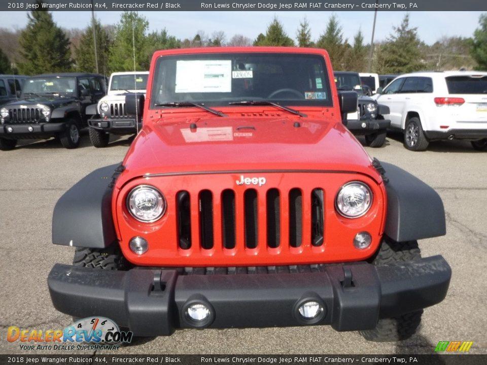 2018 Jeep Wrangler Rubicon 4x4 Firecracker Red / Black Photo #8