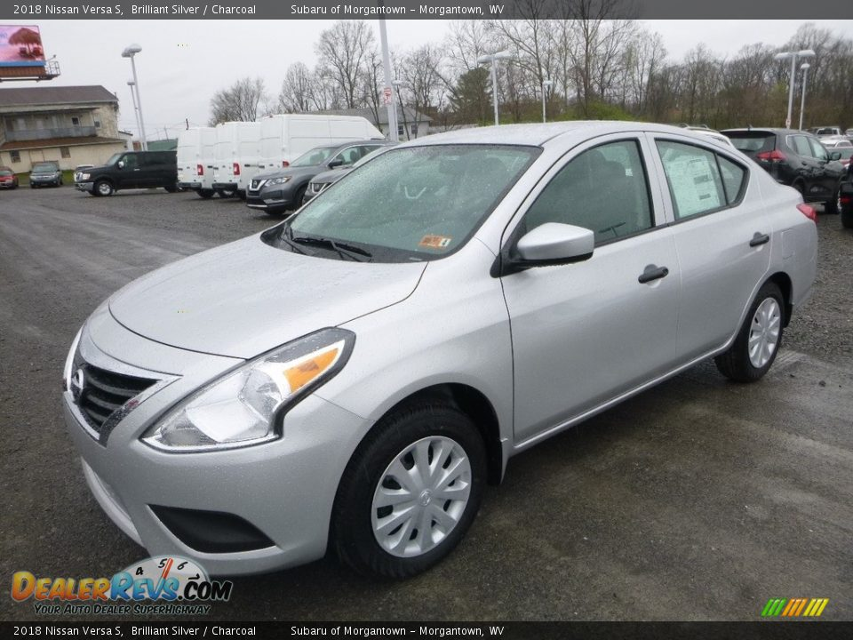 2018 Nissan Versa S Brilliant Silver / Charcoal Photo #8