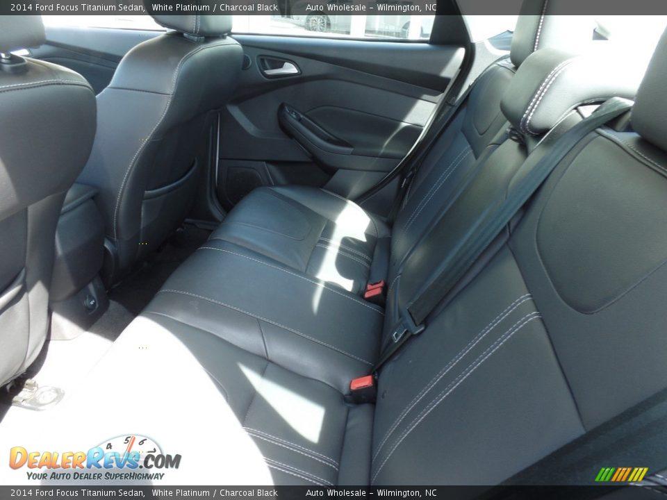 2014 Ford Focus Titanium Sedan White Platinum / Charcoal Black Photo #12