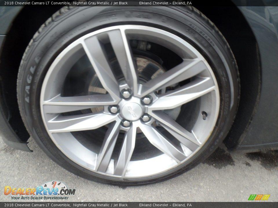 2018 Chevrolet Camaro LT Convertible Nightfall Gray Metallic / Jet Black Photo #15