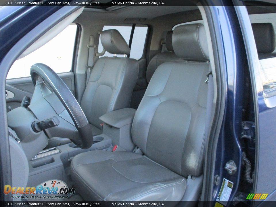 2010 Nissan Frontier SE Crew Cab 4x4 Navy Blue / Steel Photo #12