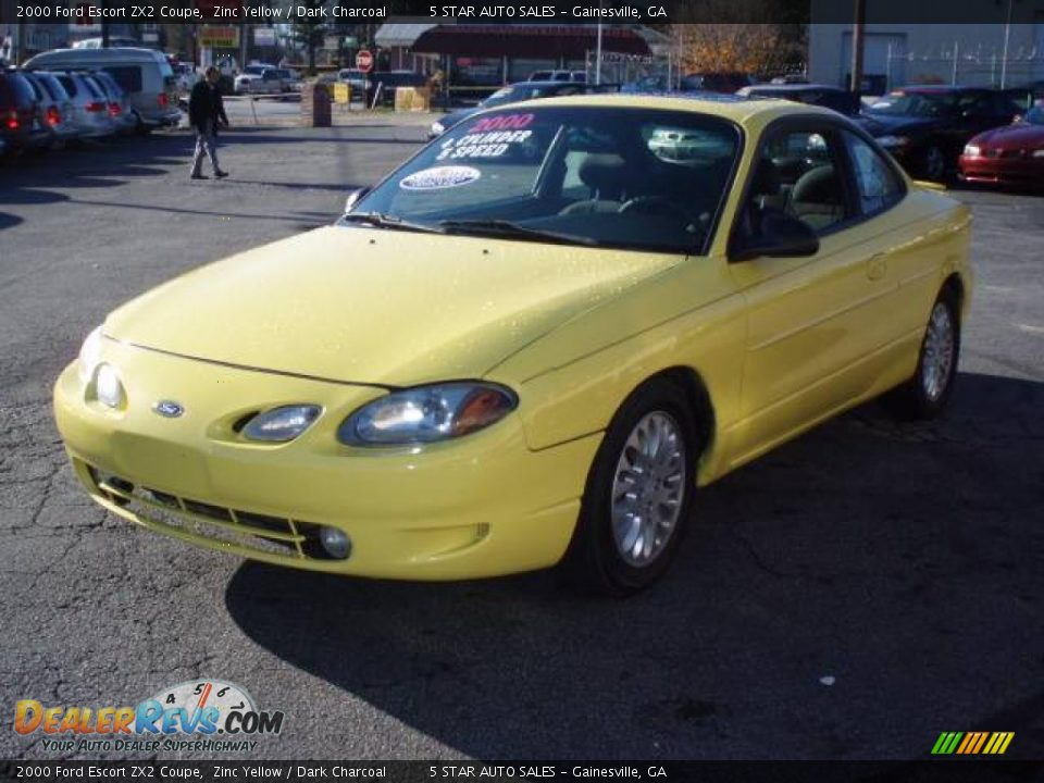 2000 ford escort zx2 coupe zinc yellow dark charcoal. Black Bedroom Furniture Sets. Home Design Ideas