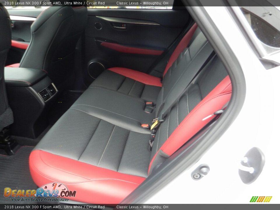 Rear Seat of 2018 Lexus NX 300 F Sport AWD Photo #3