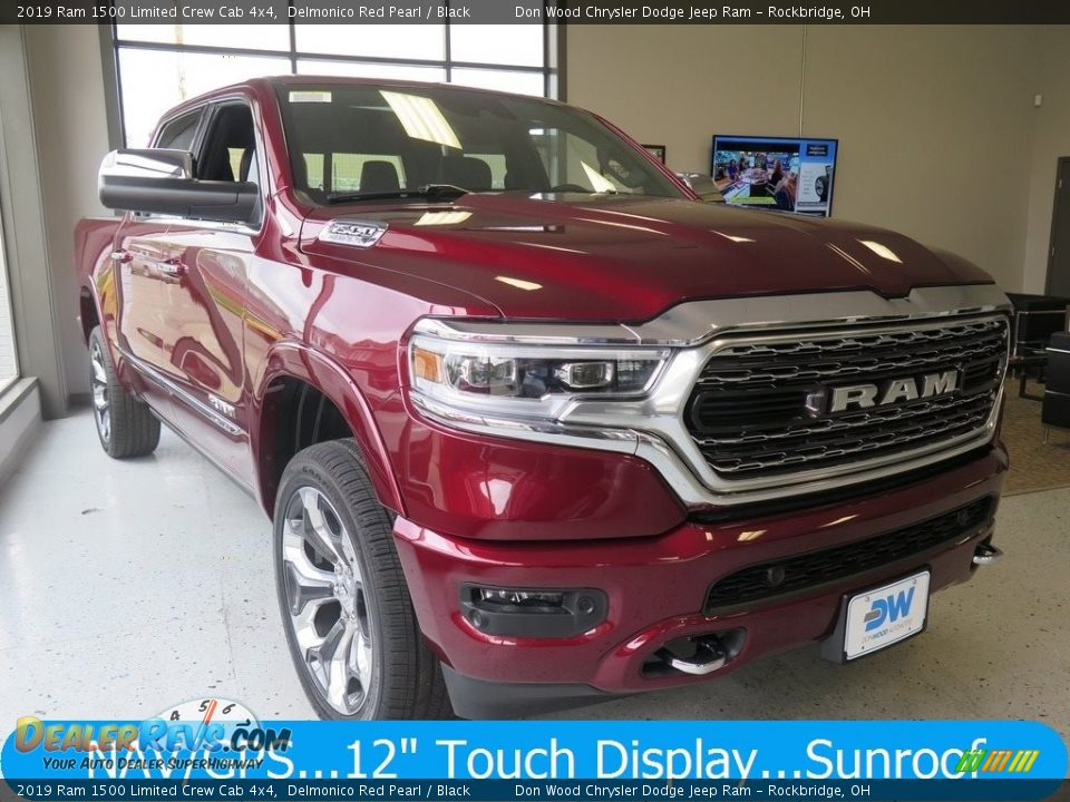 2019 Ram 1500 Limited Crew Cab 4x4 Delmonico Red Pearl / Black Photo #1