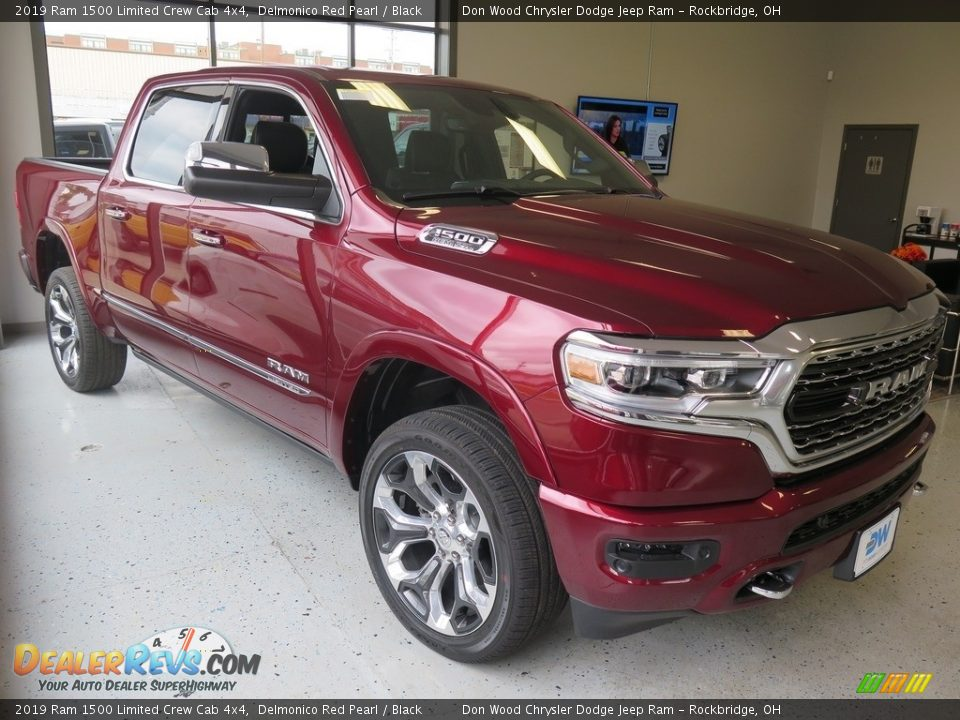 2019 Ram 1500 Limited Crew Cab 4x4 Delmonico Red Pearl / Black Photo #6