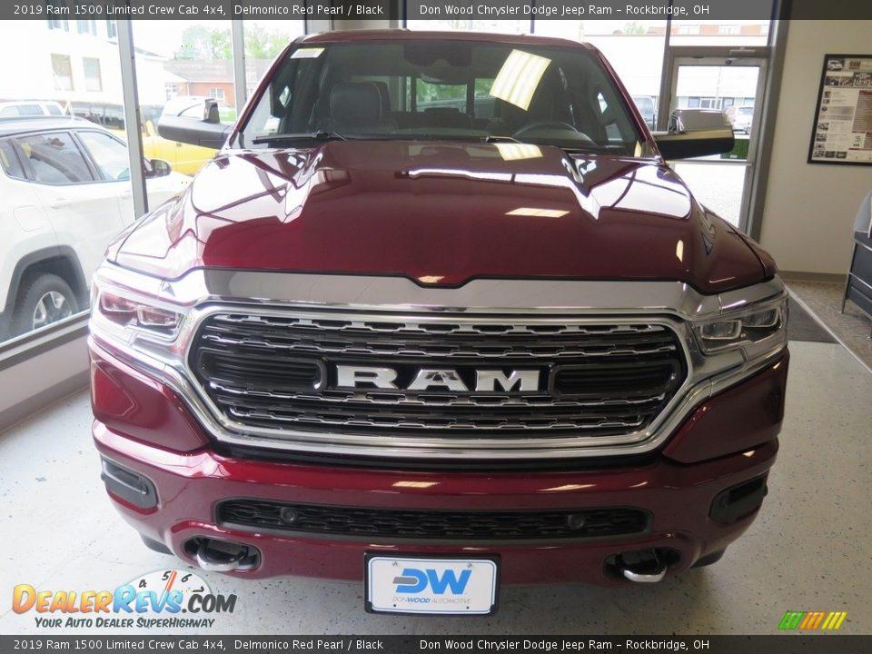 2019 Ram 1500 Limited Crew Cab 4x4 Delmonico Red Pearl / Black Photo #7