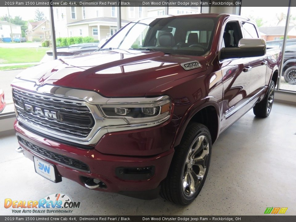 2019 Ram 1500 Limited Crew Cab 4x4 Delmonico Red Pearl / Black Photo #8