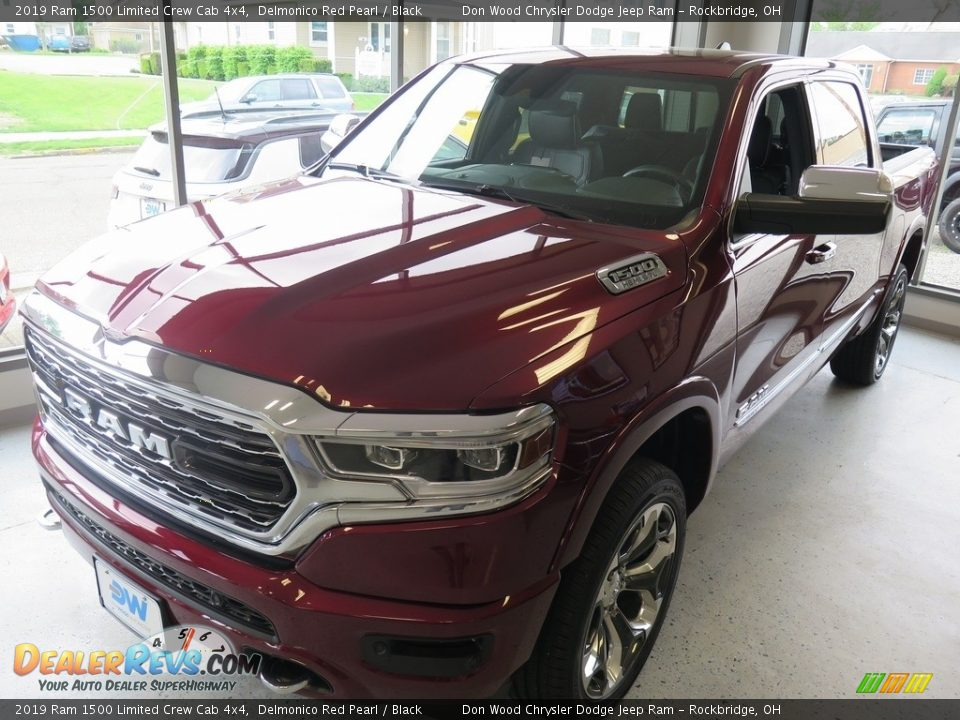 2019 Ram 1500 Limited Crew Cab 4x4 Delmonico Red Pearl / Black Photo #9