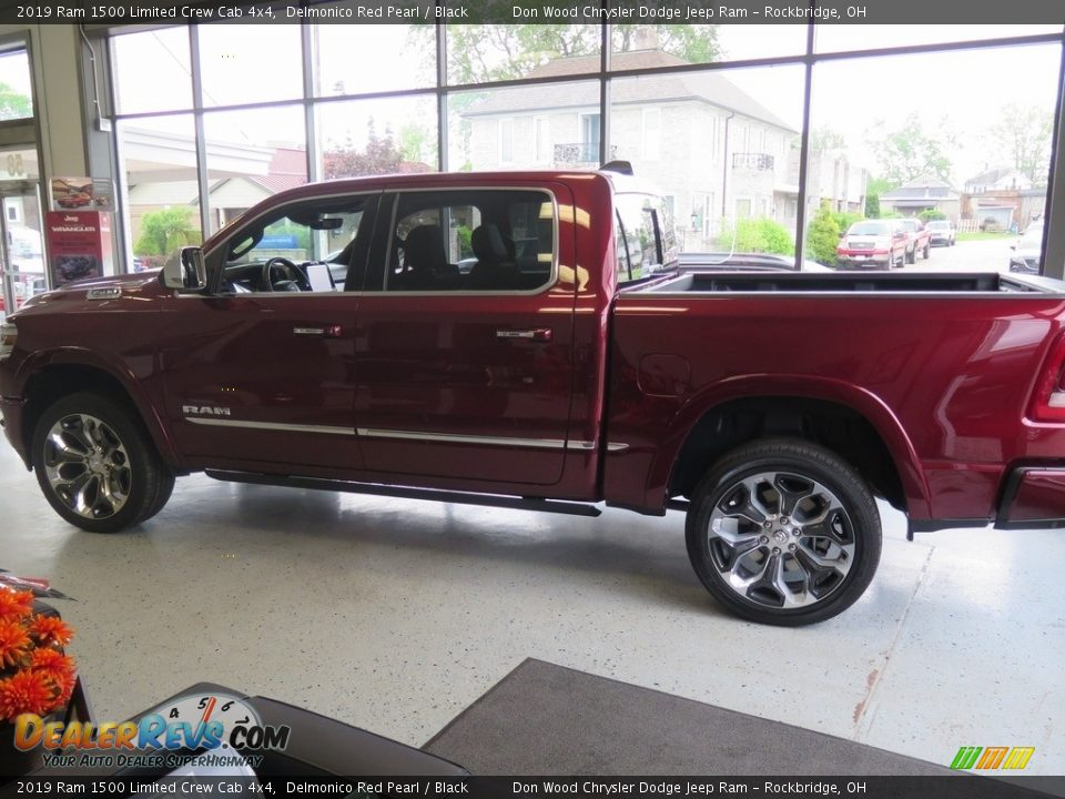 2019 Ram 1500 Limited Crew Cab 4x4 Delmonico Red Pearl / Black Photo #11