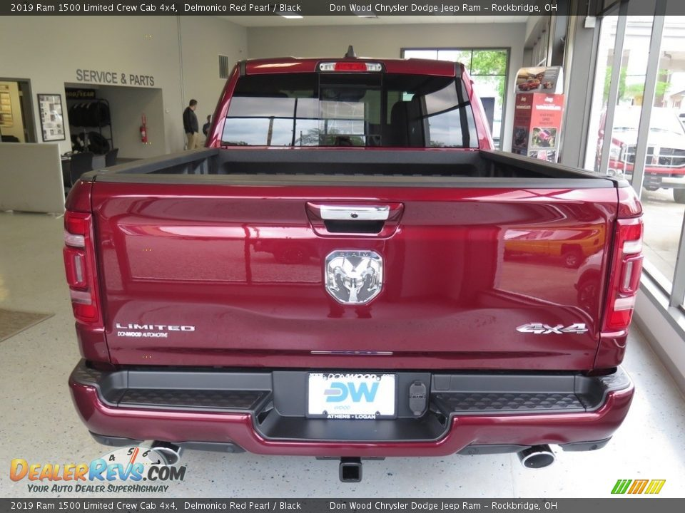 2019 Ram 1500 Limited Crew Cab 4x4 Delmonico Red Pearl / Black Photo #13
