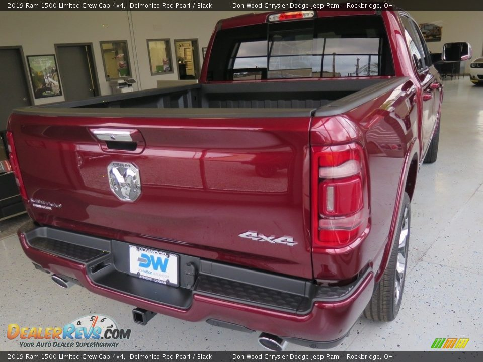 2019 Ram 1500 Limited Crew Cab 4x4 Delmonico Red Pearl / Black Photo #14