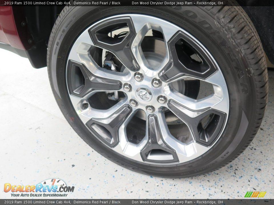 2019 Ram 1500 Limited Crew Cab 4x4 Delmonico Red Pearl / Black Photo #25