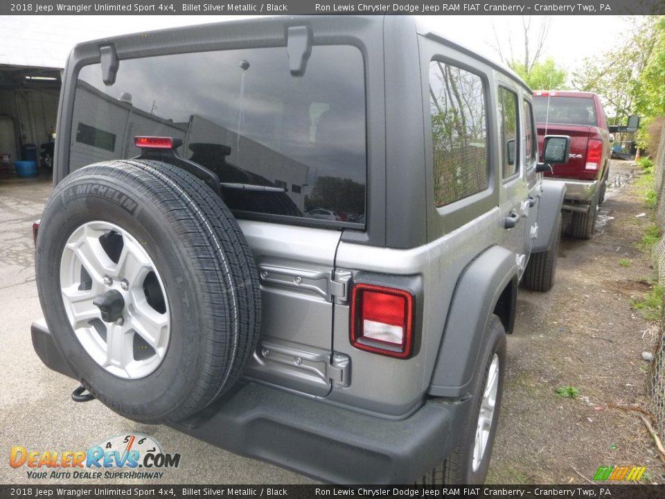 2018 Jeep Wrangler Unlimited Sport 4x4 Billet Silver Metallic / Black Photo #5