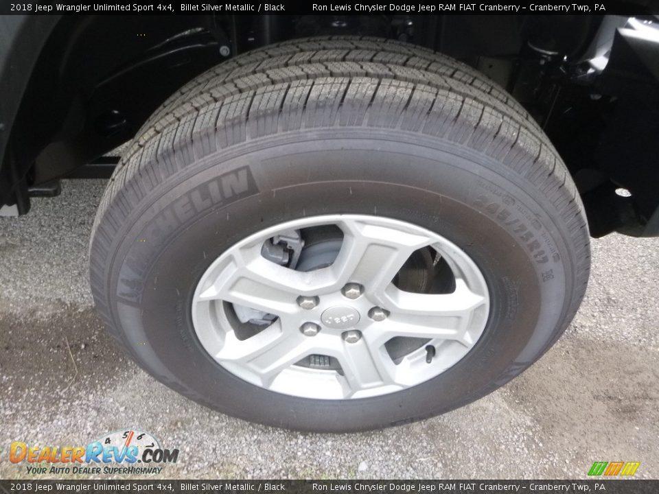 2018 Jeep Wrangler Unlimited Sport 4x4 Billet Silver Metallic / Black Photo #7