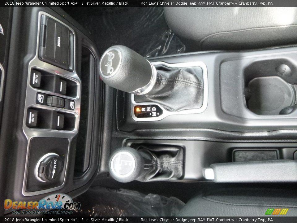 2018 Jeep Wrangler Unlimited Sport 4x4 Billet Silver Metallic / Black Photo #20
