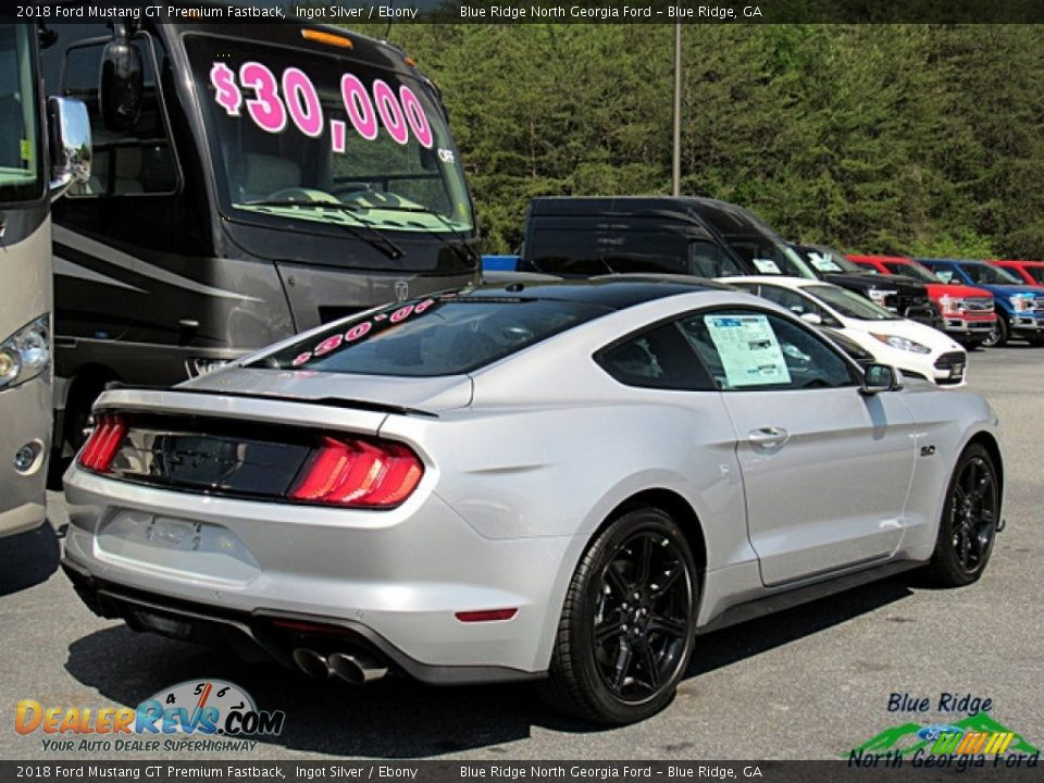 2018 Ford Mustang GT Premium Fastback Ingot Silver / Ebony Photo #5