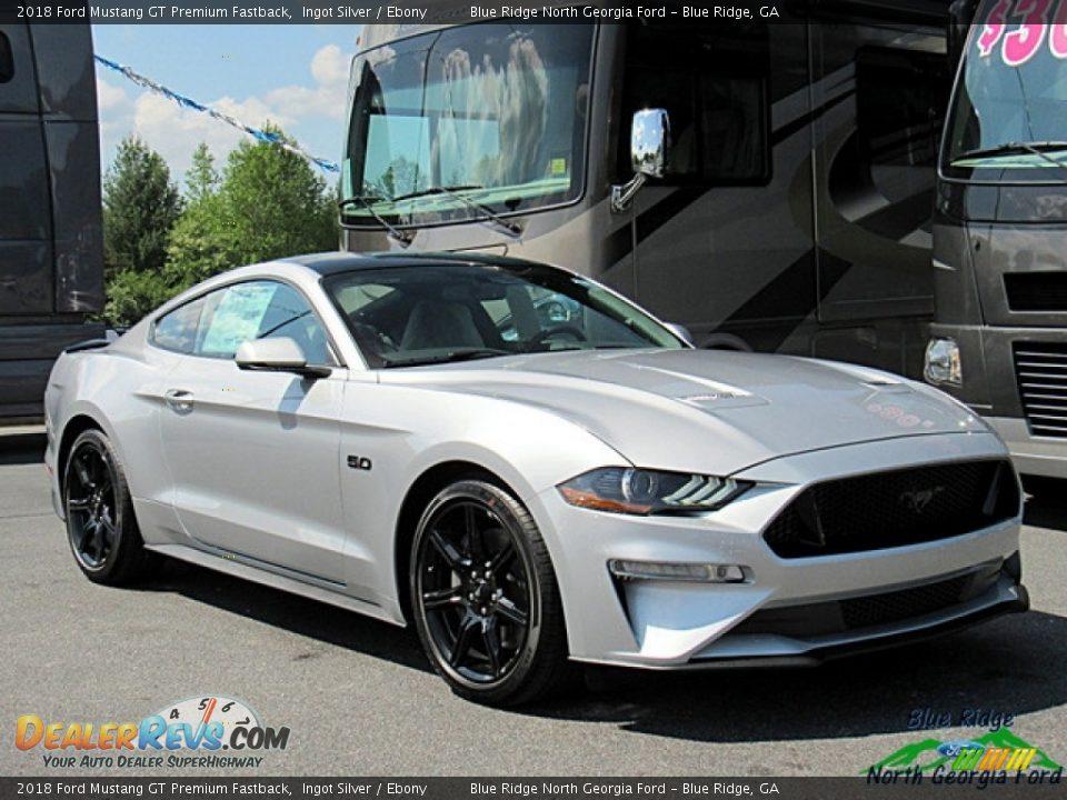 2018 Ford Mustang GT Premium Fastback Ingot Silver / Ebony Photo #7