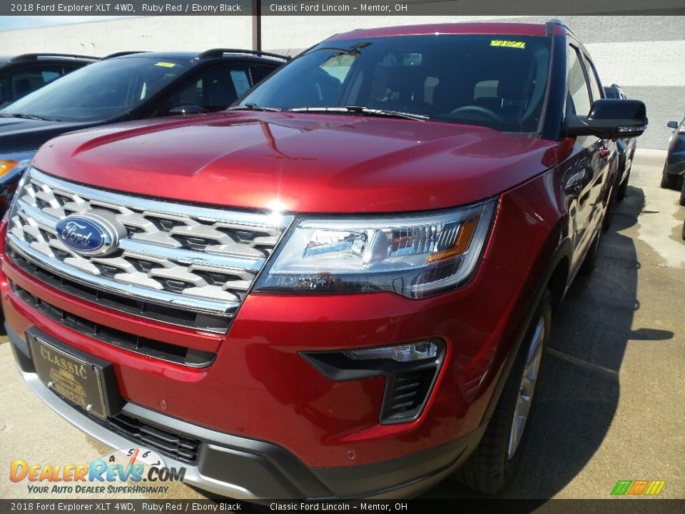 2018 Ford Explorer XLT 4WD Ruby Red / Ebony Black Photo #1
