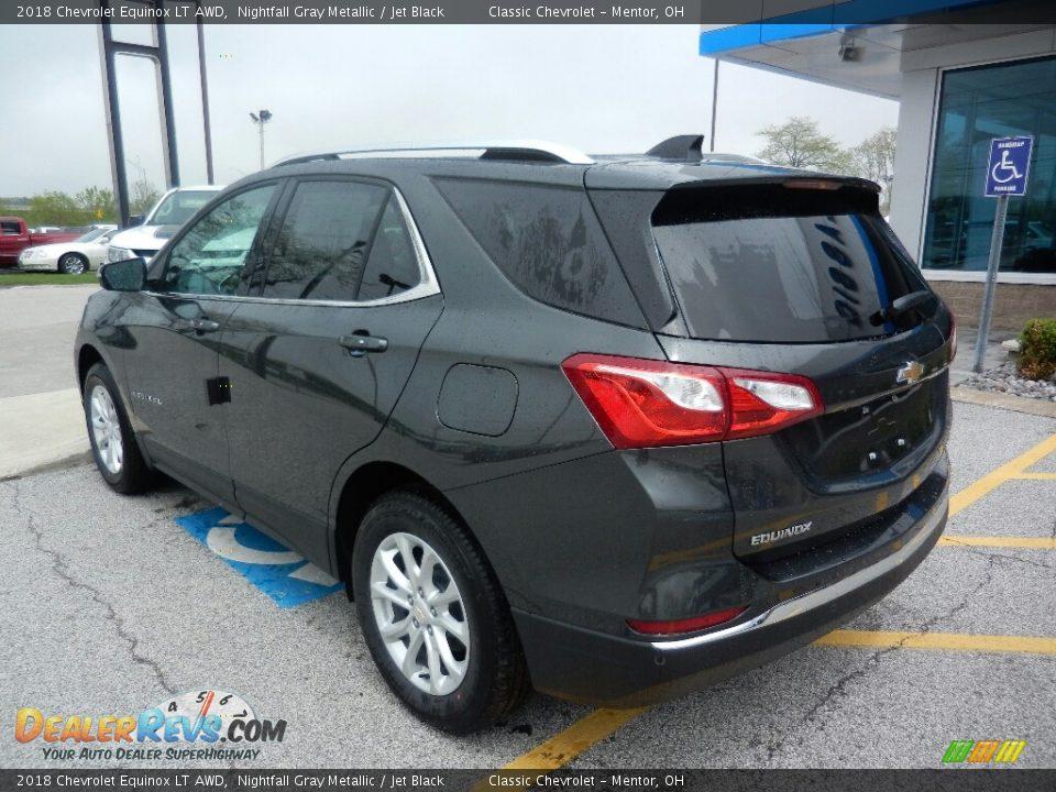 2018 Chevrolet Equinox LT AWD Nightfall Gray Metallic / Jet Black Photo #5