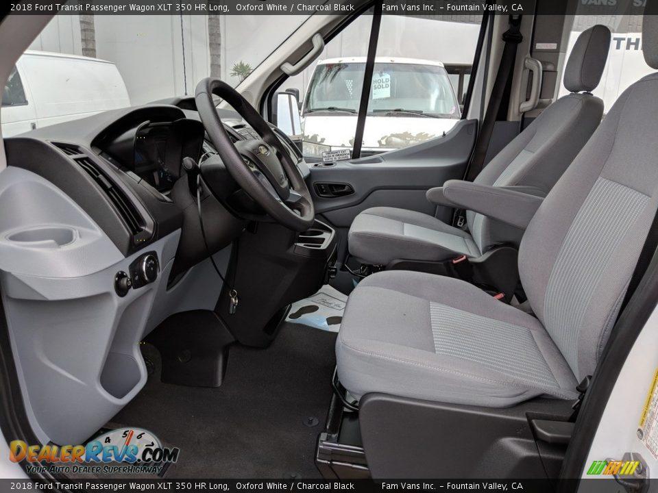 Charcoal Black Interior - 2018 Ford Transit Passenger Wagon XLT 350 HR Long Photo #10