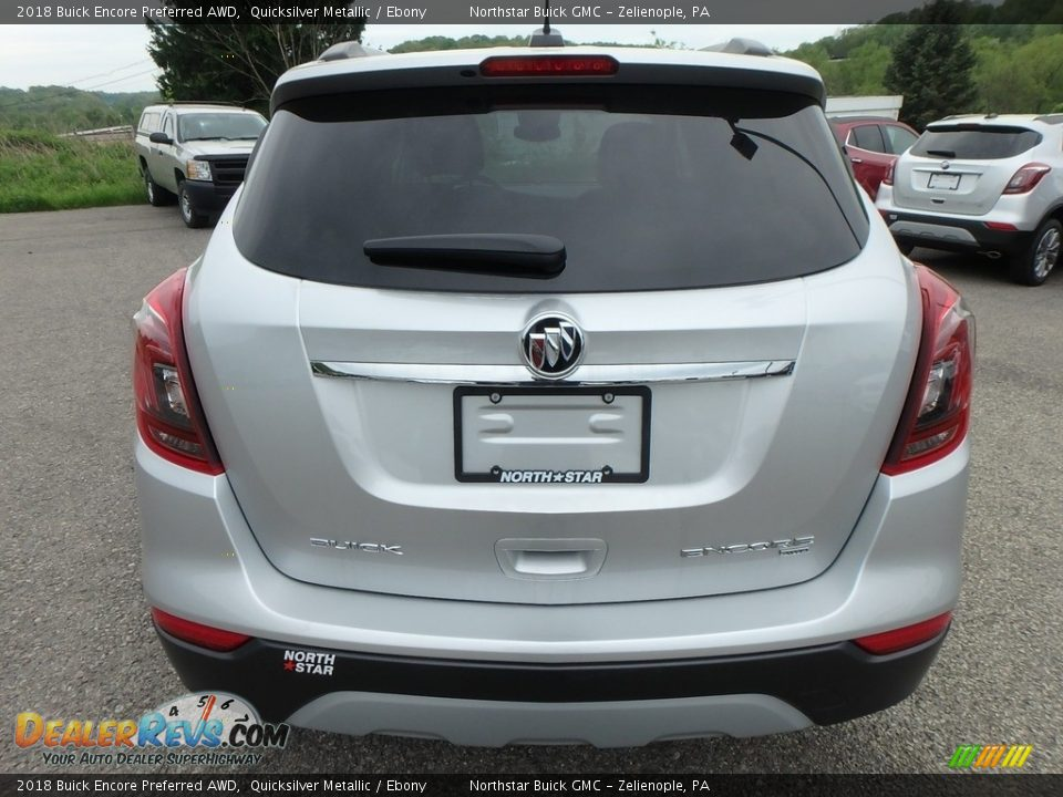 2018 Buick Encore Preferred AWD Quicksilver Metallic / Ebony Photo #6