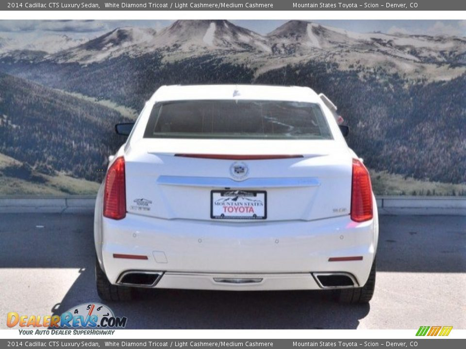 2014 Cadillac CTS Luxury Sedan White Diamond Tricoat / Light Cashmere/Medium Cashmere Photo #9