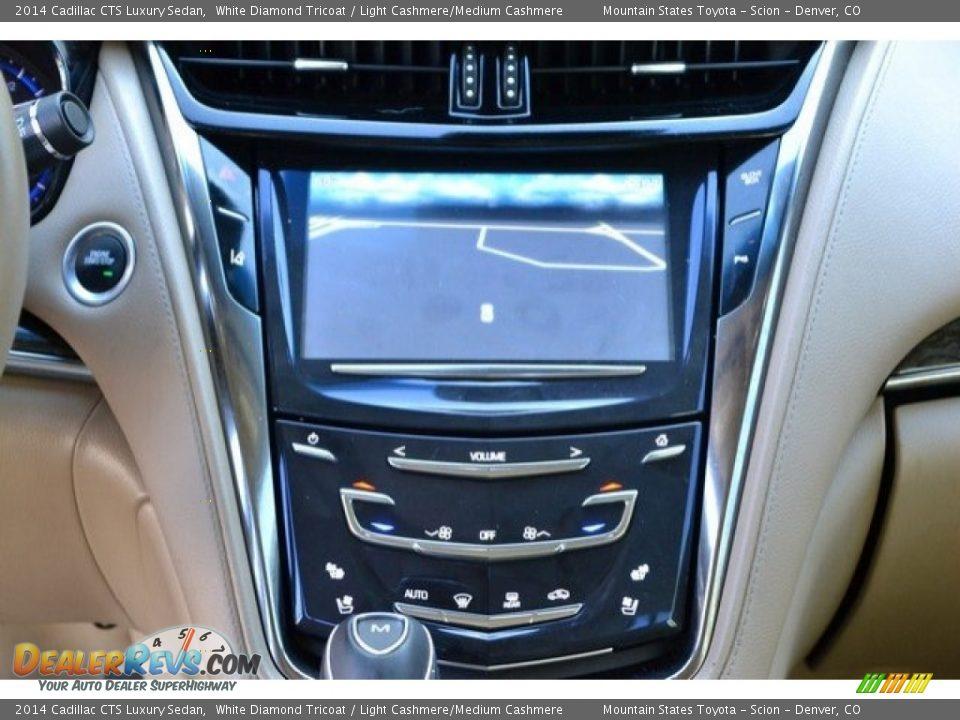 2014 Cadillac CTS Luxury Sedan White Diamond Tricoat / Light Cashmere/Medium Cashmere Photo #16