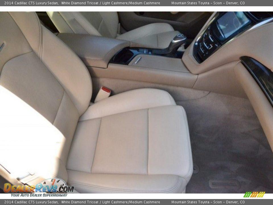 2014 Cadillac CTS Luxury Sedan White Diamond Tricoat / Light Cashmere/Medium Cashmere Photo #18
