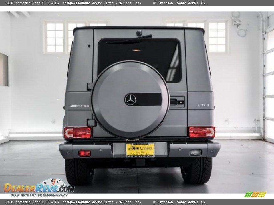 2018 Mercedes-Benz G 63 AMG designo Platinum Magno (Matte) / designo Black Photo #3