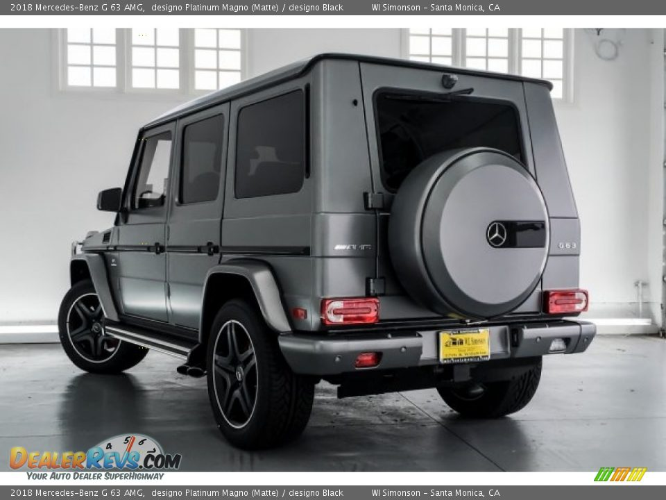 2018 Mercedes-Benz G 63 AMG designo Platinum Magno (Matte) / designo Black Photo #10