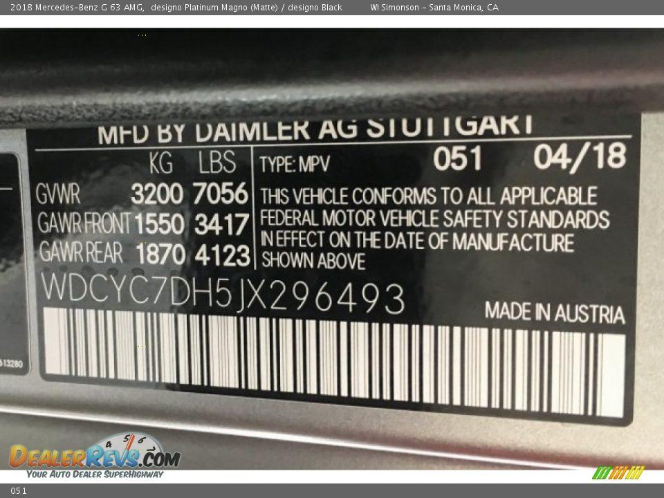 Mercedes-Benz Color Code 051 designo Platinum Magno (Matte)