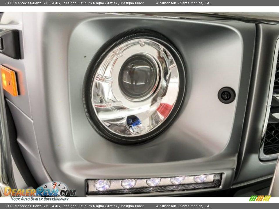 2018 Mercedes-Benz G 63 AMG designo Platinum Magno (Matte) / designo Black Photo #32