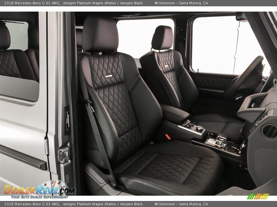 2018 Mercedes-Benz G 63 AMG designo Platinum Magno (Matte) / designo Black Photo #6