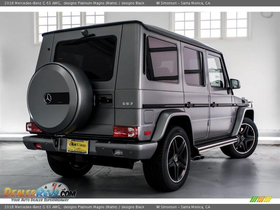 2018 Mercedes-Benz G 63 AMG designo Platinum Magno (Matte) / designo Black Photo #16