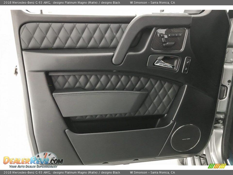 2018 Mercedes-Benz G 63 AMG designo Platinum Magno (Matte) / designo Black Photo #24