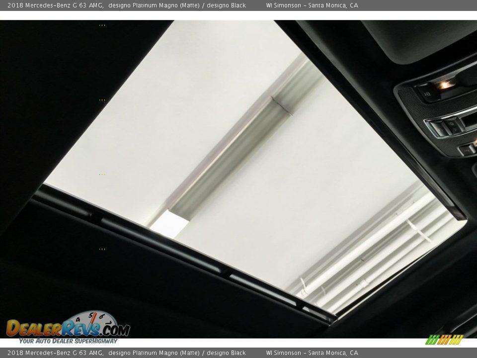 2018 Mercedes-Benz G 63 AMG designo Platinum Magno (Matte) / designo Black Photo #27