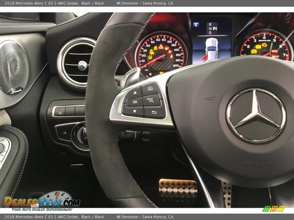 2018 Mercedes-Benz C 63 S AMG Sedan Steering Wheel Photo #18