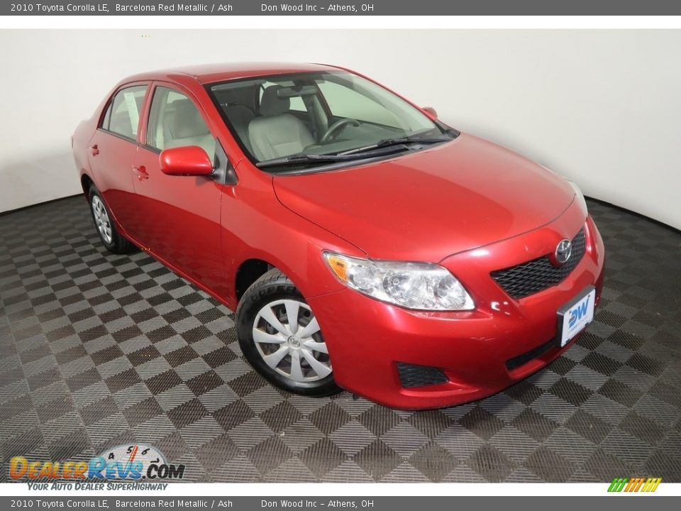 2010 Toyota Corolla LE Barcelona Red Metallic / Ash Photo #2