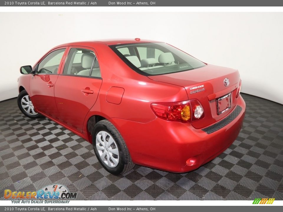 2010 Toyota Corolla LE Barcelona Red Metallic / Ash Photo #7
