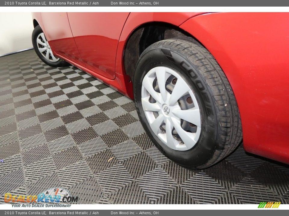 2010 Toyota Corolla LE Barcelona Red Metallic / Ash Photo #18