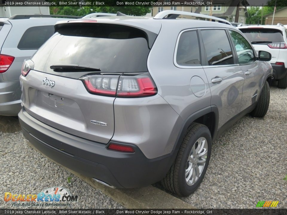 2019 Jeep Cherokee Latitude Billet Silver Metallic / Black Photo #10