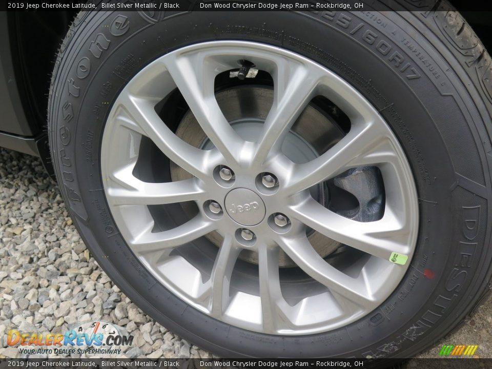 2019 Jeep Cherokee Latitude Billet Silver Metallic / Black Photo #23