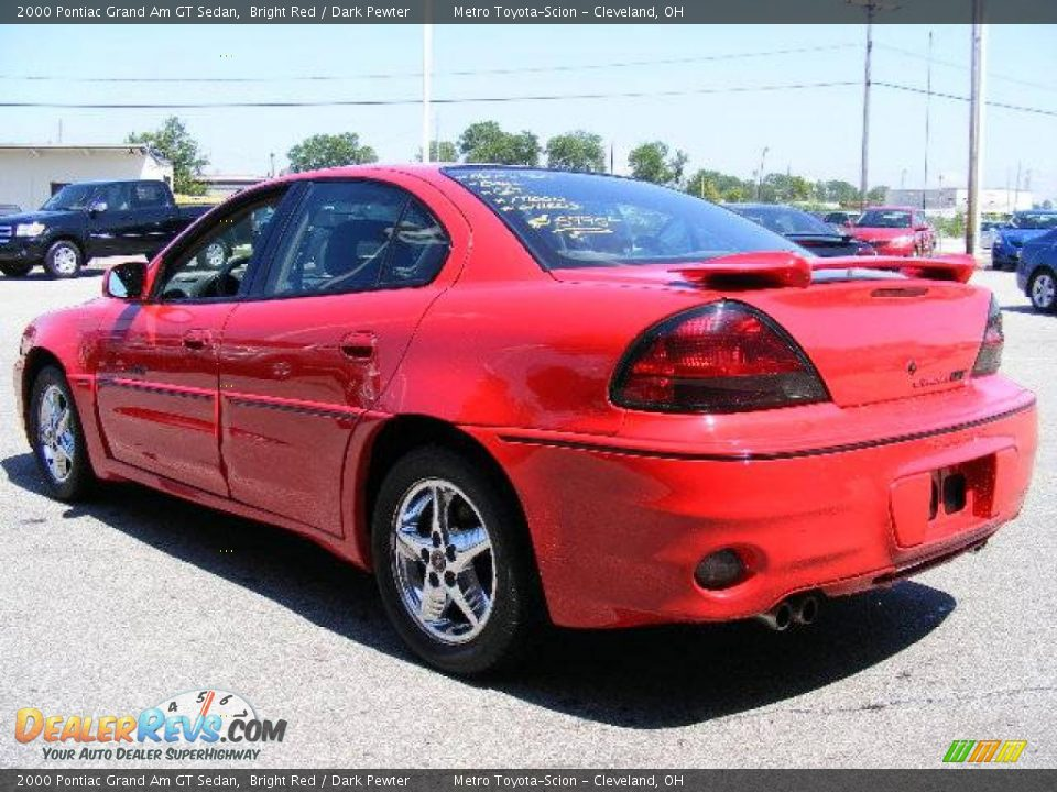 2000 pontiac grand am gt sedan bright red dark pewter photo 5 dealerrevs com dealerrevs com