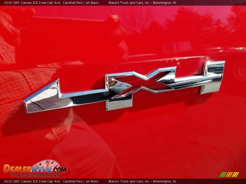 2016 GMC Canyon SLE Crew Cab 4x4 Cardinal Red / Jet Black Photo #10