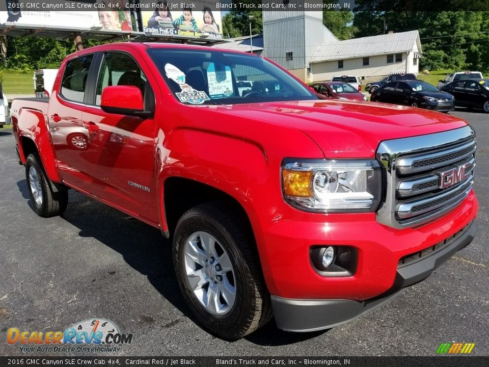 2016 GMC Canyon SLE Crew Cab 4x4 Cardinal Red / Jet Black Photo #12