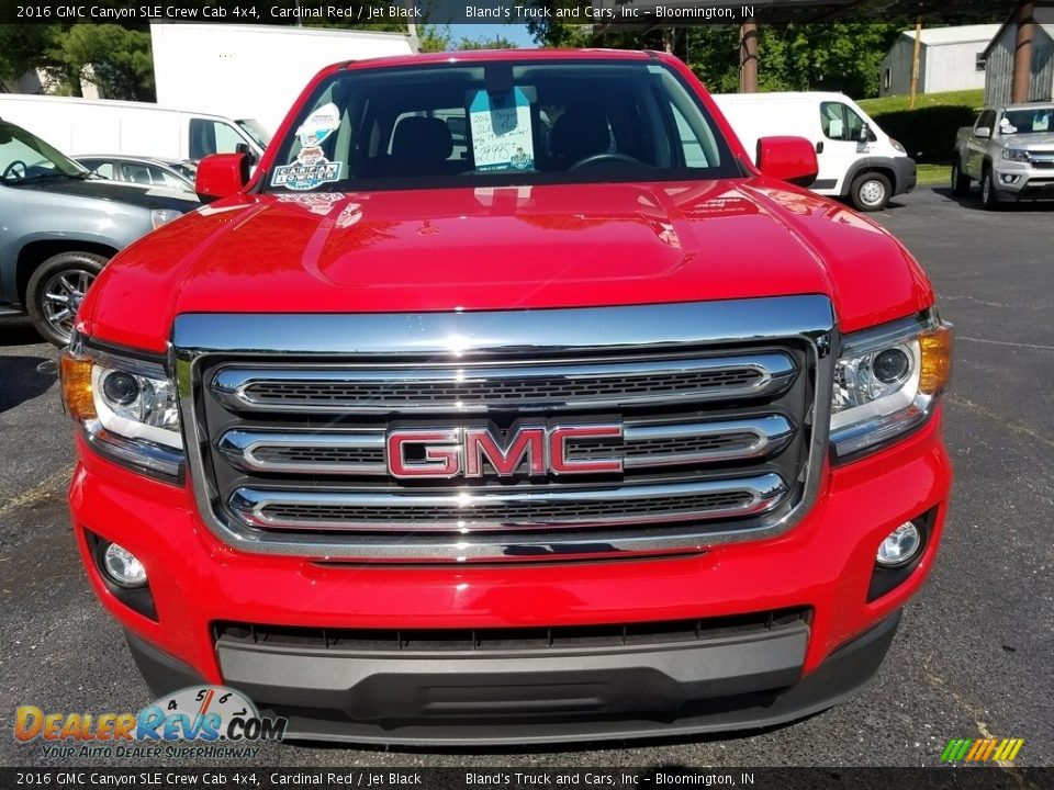 2016 GMC Canyon SLE Crew Cab 4x4 Cardinal Red / Jet Black Photo #13